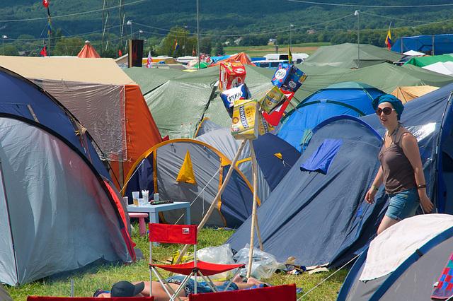 Ambiance de vacances au camping