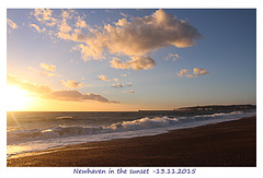 Newhaven in the sunset - 13.11.2015
