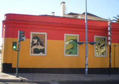 Mural inspired on Amadora's yearly Manga Festival.