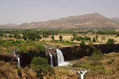 Blue Nil Falls in the dry season