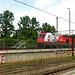 """HFF - """"Werbelok """" 101 076-8 der DB im Bahnhof Dresden Hbf"""