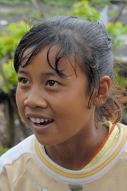 Bali Aga girl Sujatmi in Trunyan