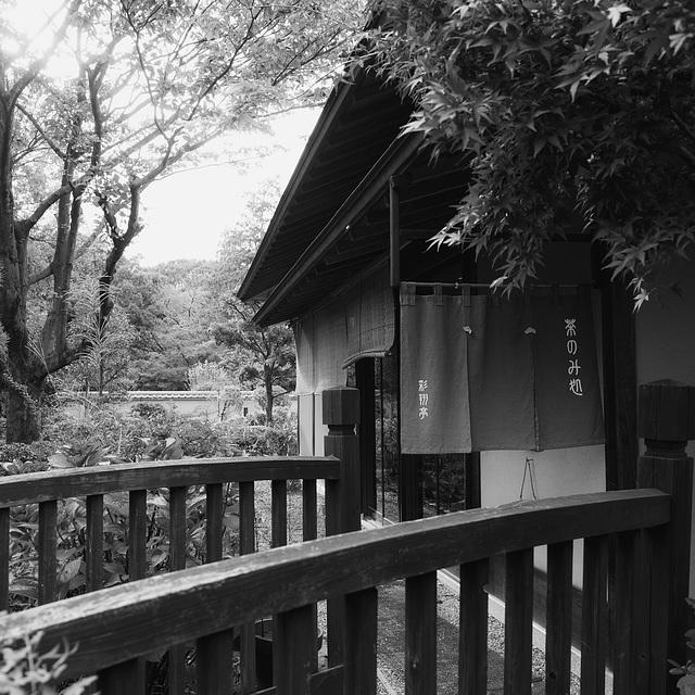 Tea house in a park