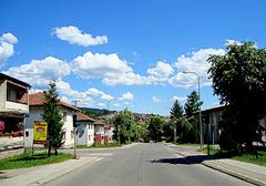 Summer and autumn sky above my street