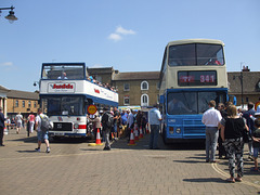 DSCF2061 Judds Coaches BKE 861T and K481 EUX former China Motor Bus LM10 (FW 3858) - Fenland Busfest - 20 May 2018