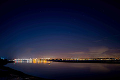 The River Mersey and Liverpool by night