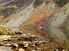 Wastwater Screes rocky reflections