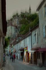ROCAMADOUR (France), le Théâtre côté rocher