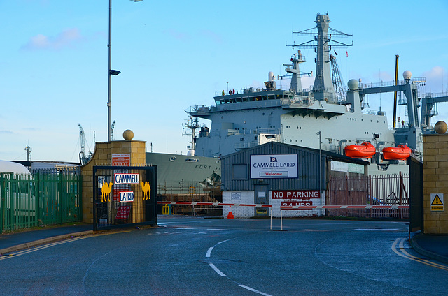 RFA FORT VICTORIA in Cammell Laird