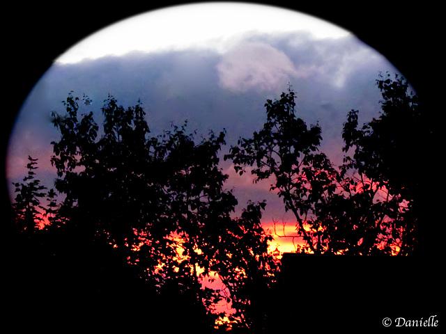 Coucher de soleil d'hier soir….