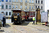 Leipzig 2017 – Straßenbahnmuseum – Tram 257 & carriage 87 arriving