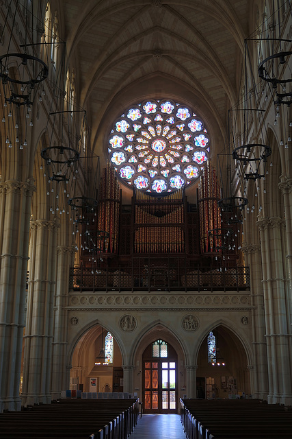 Rose window and the organ