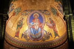 MONACO: Mosaïc de la Cathédrale de Monaco.