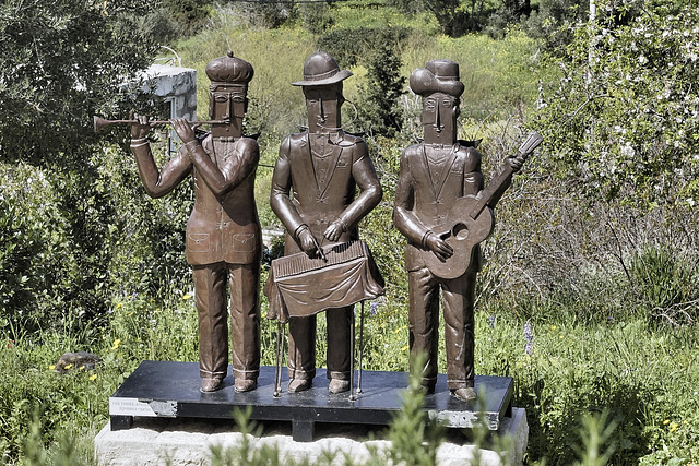 """The Three Angels of Music"" – Artists' Village, Ein Hod, Haifa District, Israel"