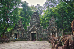 Entrance to Preah Khan temple in Angkor Archeological Park near Siem Reap, Cambodia