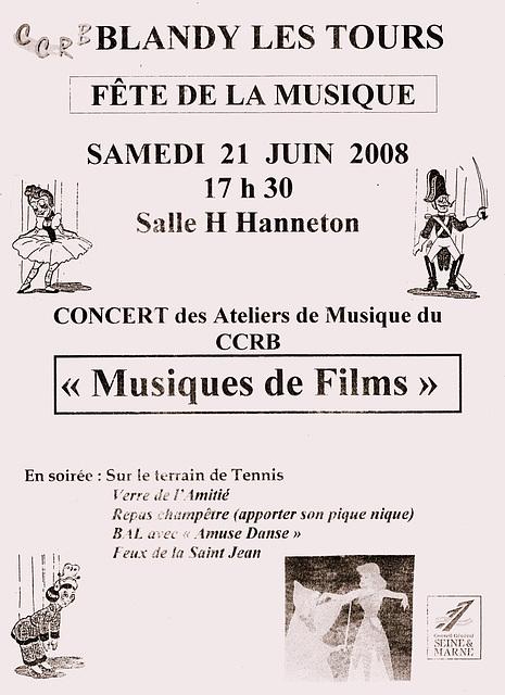 Concert à Blandy-les-Tours le 21 juin 2008