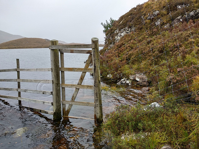 Loch Damh in spate