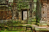 Stone carvings at Ta Som temple ruins in Angkor Archaeological Park near Siem Reap, Cambodia