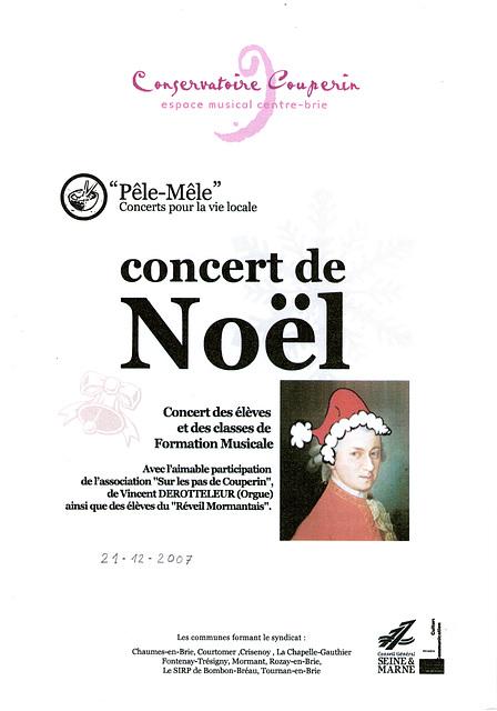 Concert de Noël à Chaumes-en-Brie le 21 décembre 2007