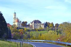 Schloss und Sankt Margaretha Kirche in Hohenstadt