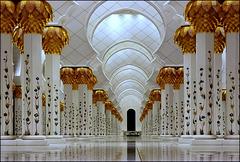 AbuDhabi : spettacolo !  il marmo in terra sembra bagnato...