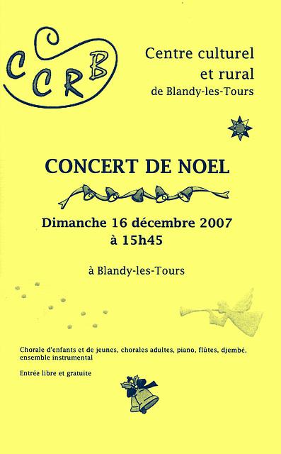 Concert de Noël à Blandy-les-Tours le 16/12/2007