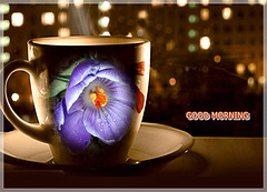 Good Evening and Good Morning avec Coffee Cup