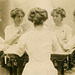 Mirror Photo of Woman Playing Cards, White Way Photo Studio, New York, N.Y.