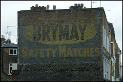 Brymay ghost sign at Fulham