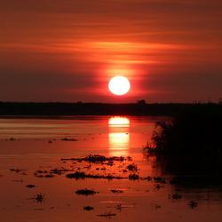 207 Sunset on the river Sepik