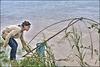 Pêche au carrelet dans le Mékong