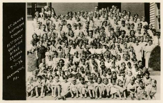 Vacation Bible School, St. John's Lutheran Church, Slatington, Pa., July 1, 1936