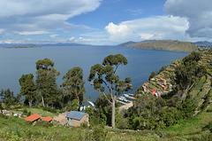 Bolivia, Titicaca Lake and Town of Yumani on the Island of the Sun