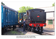The Isle of Wight Steam Railway 02 class 0-4-4T W24 at Haven Street - 19.7.2018