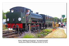 The Isle of Wight Steam Railway Army 198 Haven Street 19 7 2018
