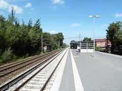 Haltestelle Halstenbek bei Hamburg, Blich richtung Pinneberg