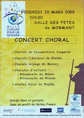 Concert à Mormant le 20 mars 2009