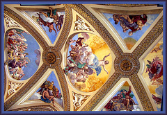 Napoli : gli affreschi della volta della Certosa di San Martino - (825)