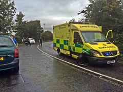 Ambulance involved in crash