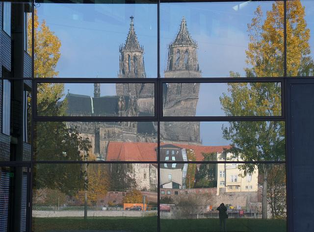 Der  Magdeburger Dom im Landesstudio des MDR