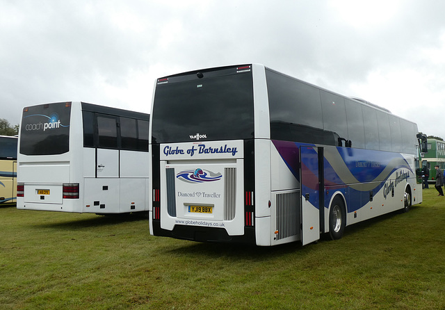 Coachpoint A16 CPX (R204 MGA) and Globe Holidays YJ19 BBX at Showbus - 29 Sep 2019 (P1040582)