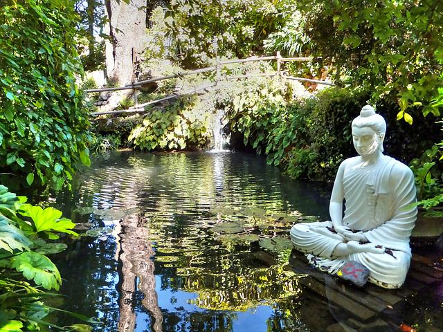 Buddha im kleinen See. ©UdoSm