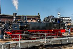91 134 (Preußische T9.2) im Sächsischen Eisenbahnmuseum Chemnitz zum Heizhausfest (HFF)