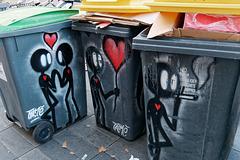 Poubelles recyclées
