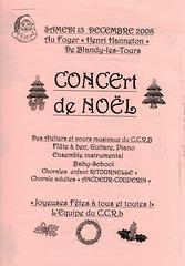 Concert à Blandy-les-Tours le 13 décembre 2008