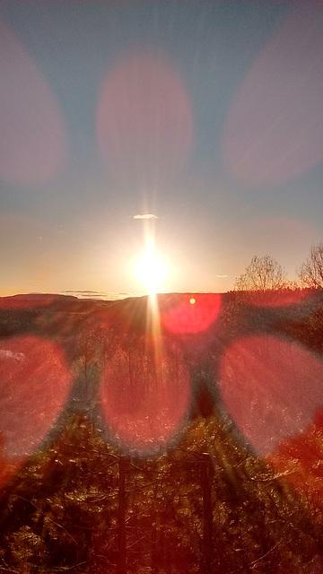Coucher de soleil psychédélique / Psychedelic sunset