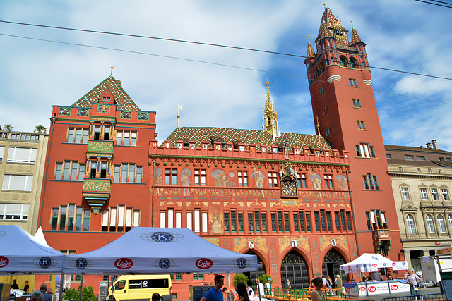 Rathaus in Basel Schweiz