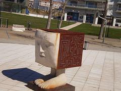 Sculpture at Fonte Nova Park.