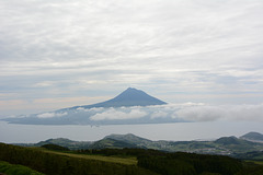 Azores, The Pico Volcano from the Eastern Ridge of Caldeira on the Island of Faial