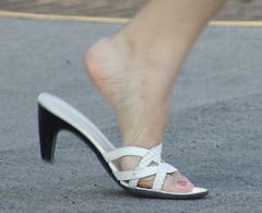 athena alexander heels on the street